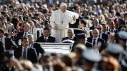 Pope Francis at the general audience in Rome's St. Peter's Square, September 26, 2018.