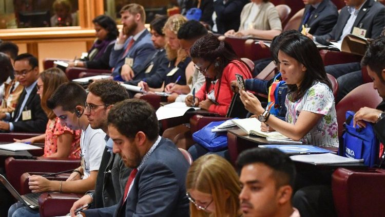 Young Catholics attend the Synod of Bishops