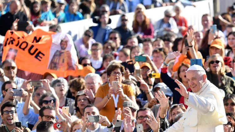 Pope Francis at the general audience of October 10, 2018.