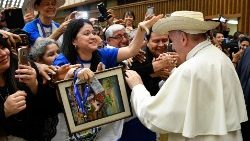 Pope Francis' audience for pilgrims from El Salvador