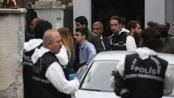 Forensic officers investigating the disappearance of Saudi journalist Jamal Khashoggi
