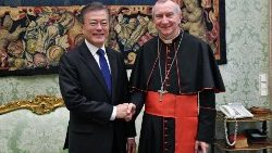Kard. Parolin i Moon Jae-in