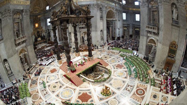 Missa conclusiva do Sínodo dos Bispos presidida pelo Papa Francisco na Basílica de São Pedro