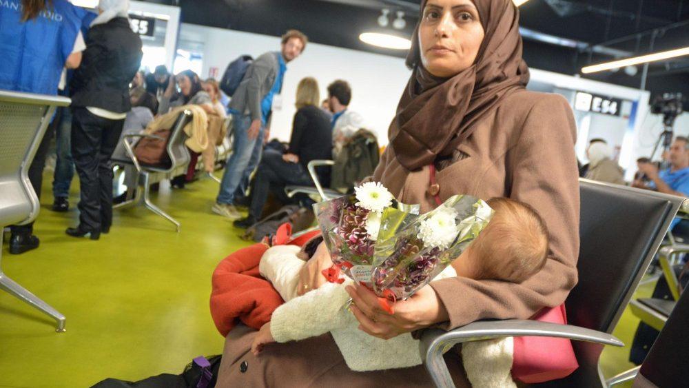 Los refugiados ya están en Italia