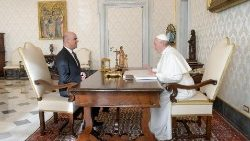 Pope Francis with Swiss Confederation's President, Alain Berset