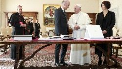 Swiss Federal President Alain Berset visits Vatican City