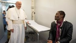 Pope Francis visited the medical camp opened in view of the 2nd World Day of the poor on 18th November