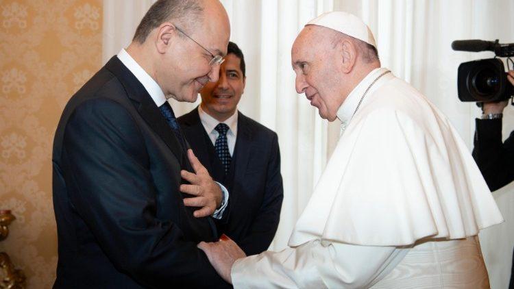 Papa Francisco Presidente Iraq Salih visita