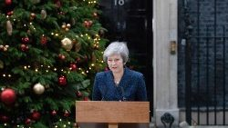 British PM May statement outside 10 Downing Street