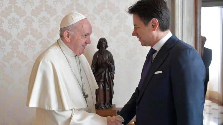Pope Francis meets Italian Prime Minister Giuseppe Conte