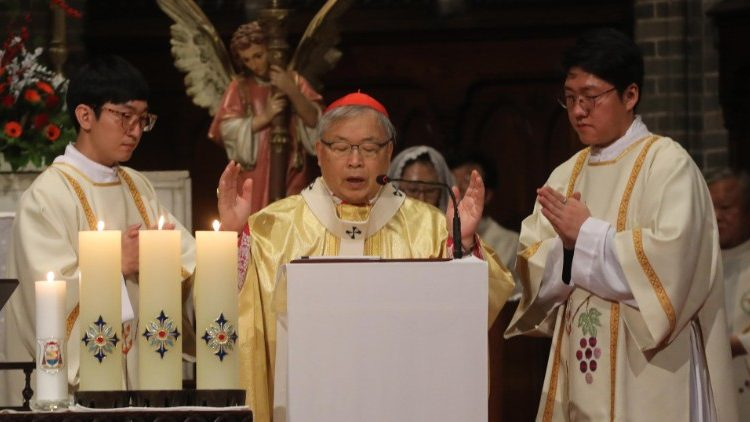 South Korean Cardinale Andrew Yeom Soo-jung , Archbishop of Seoul.