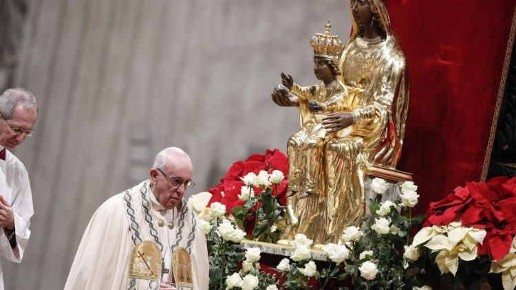 Pope Francis venerated the Madonna of Viggiano