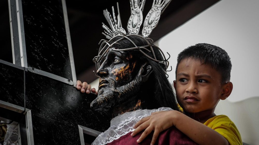 Blessing of Black Nazarene replicas in Manila
