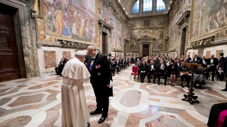 Pope Francis holds an audience with the Members of the Diplomatic Corps