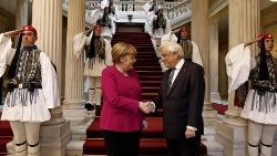 German Chancellor Angela Merkel visits Greece