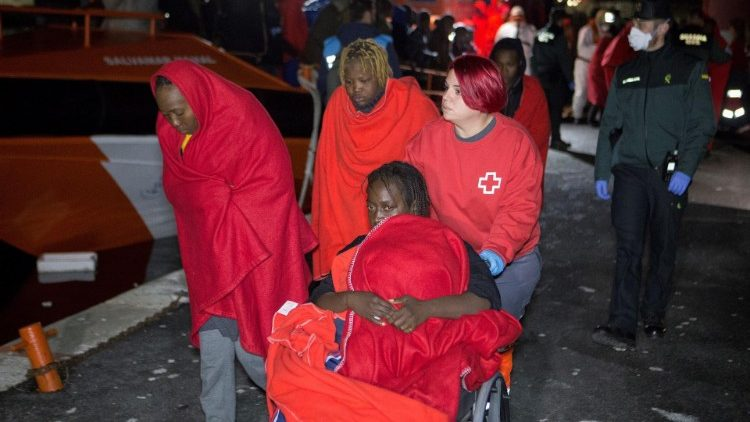 109 migrants arrive to the Motril's Port in Granada after being rescued in Mediterranean