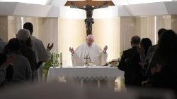 Pope Francis linked #santamarta on hardheartedness