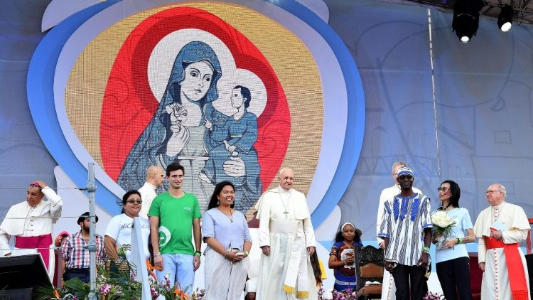 Pope at World Youth Day in Panama.