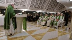 Pope Francis at Holy Mass at Casa Santa Marta, Feb. 1, 2019.