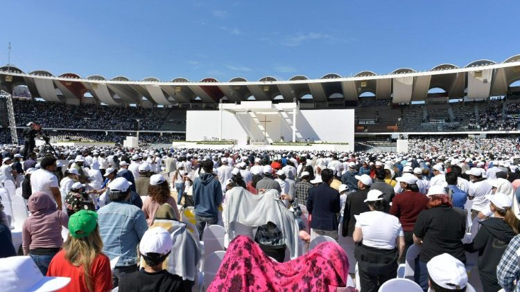 The venue of Pope's Holy Mass in Abu Dhabi - Al zayed Sports City Stadium