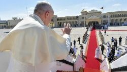 Pope Francis bidding farewell after his Feb. 3-5 visit to the UAE