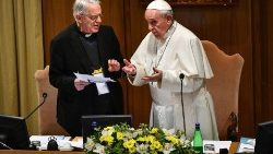 Pope Francis and Father Federico Lombardi
