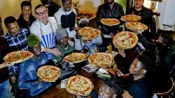 An initiative in the southern Italian town of Caserta where migrants are involved in a formation course for pizza-makers