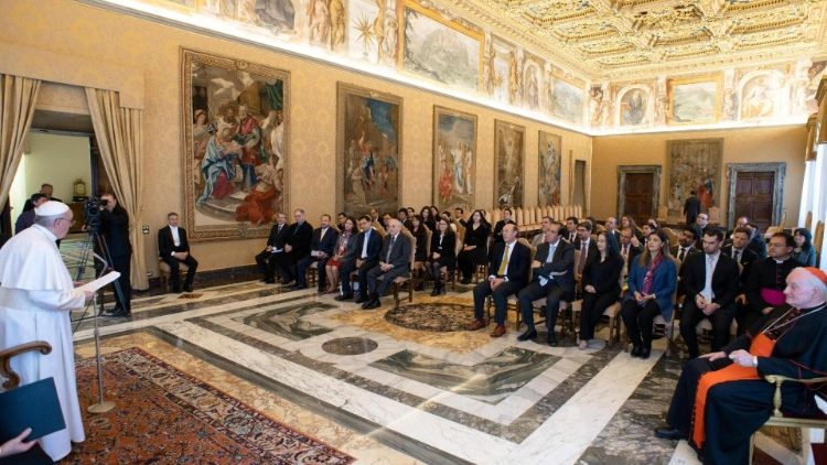 Pope Francis meets with members of the Pontifical Commission for Latin America