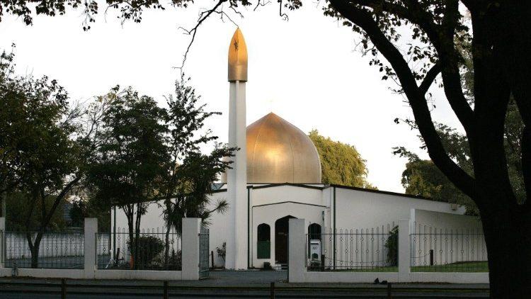 Uma das mesquitas em Christchurch onde ocorreu o ataque