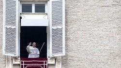 Pope Francis during the Angelus Prayer
