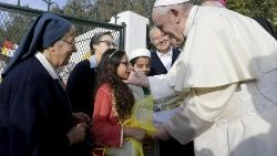 Pope Francis with the Daughters of Charity in Temara