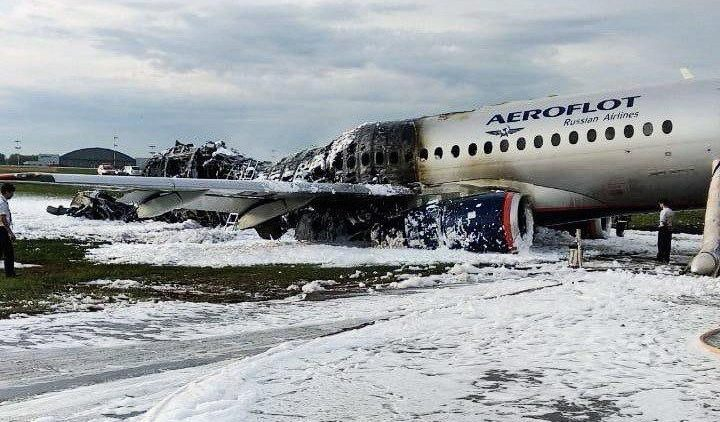 At least 41 people killed after Sukhoi Superjet 100 lands while on fire at Sheremetyevo Airport