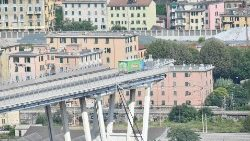 The remains of the Morandi Bridge in Genoa