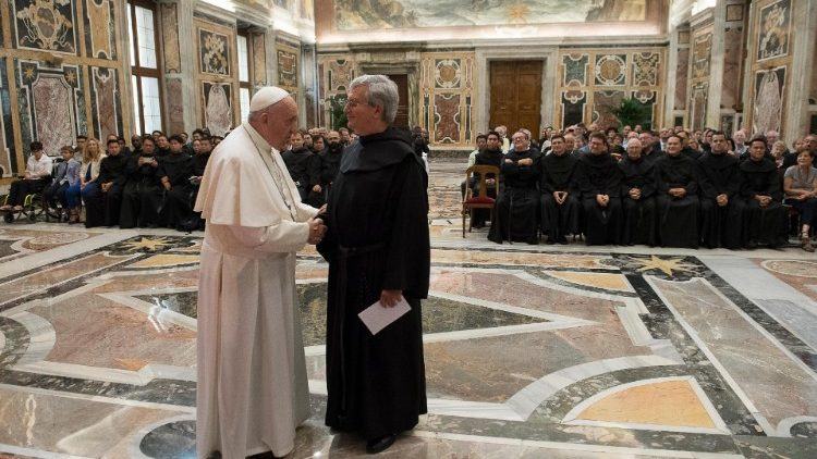 Pope Francis addressed the General Chapter of the Augustinians Discalceated