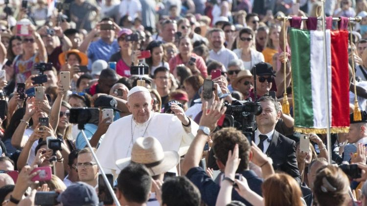 Pope Francis at the general audience in the Vatican on 18 September, 2019.