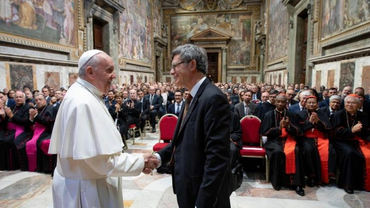 Pope Francis and prefect of the Dicastery for Communication