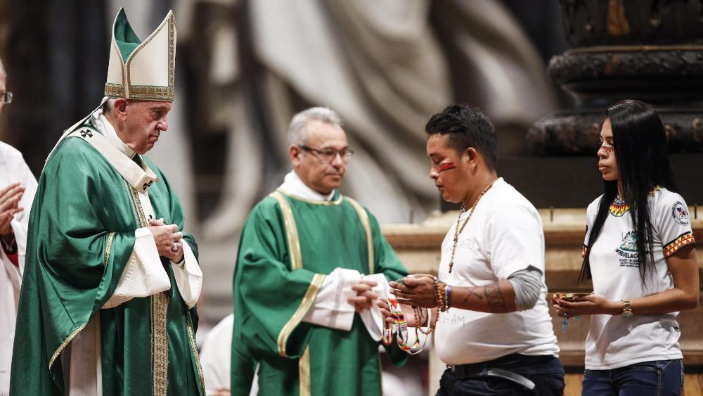 Pope Francis presides Mass for closing of Synod of Bishops for the Pan-Amazon