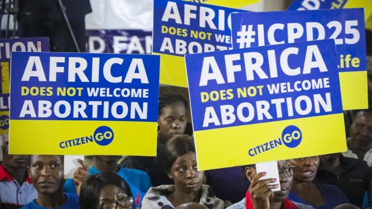 Anti-abortion activists protest against ICPD Summit in Nairobi