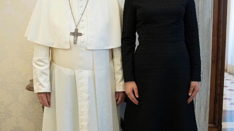 Pope Francis meets with Estonian President Kersti Kaljulaid