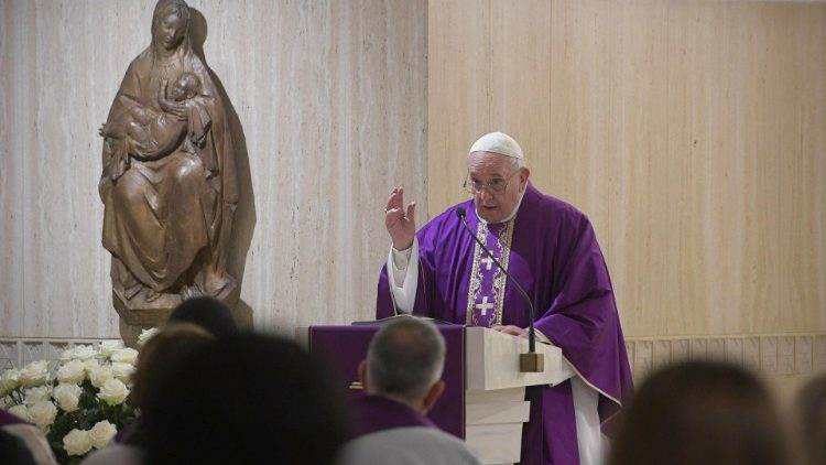 Pope Francis celebrates Mass at Saint Martha House