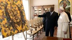 DRC's President Tshisekedi on a visit to the Vatican this year