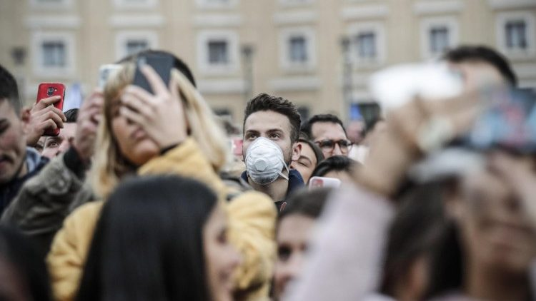 Protective mask during the Angelus prayer in St. Peter's Square