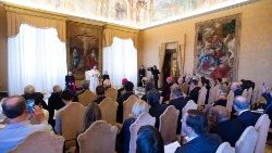 Archive photo of Pope Francis addressing a workshop organized by the Pontifical Academy of Social Sciences