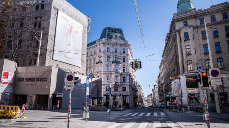 Les rues de Vienne désertes le 15 mars 2020