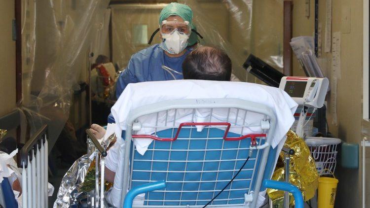 Dans un hôpital de Brescia.