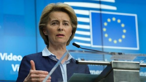 European Commission President Ursula Von der Leyen, during a joing news conference 23 April 2020