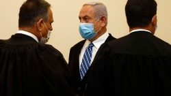 Israeli Prime Minister Netanyahu faces first day of historic corruption trial