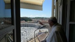 Pope Francis leads the Regina Coeli prayer
