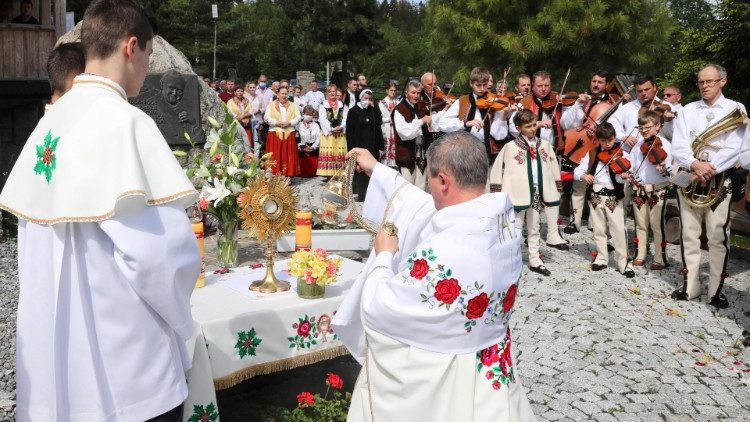 A traditional Corpus Christi procession in Witow