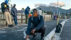 Construction workers waiting to work in the informal sector in Cape Town, South Africa